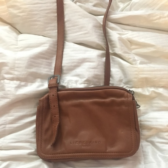 2019 real Good Prices quality design Liebeskind Berlin Cognac Leather Crossbody